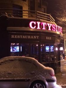 Cityside on a recent snowy night