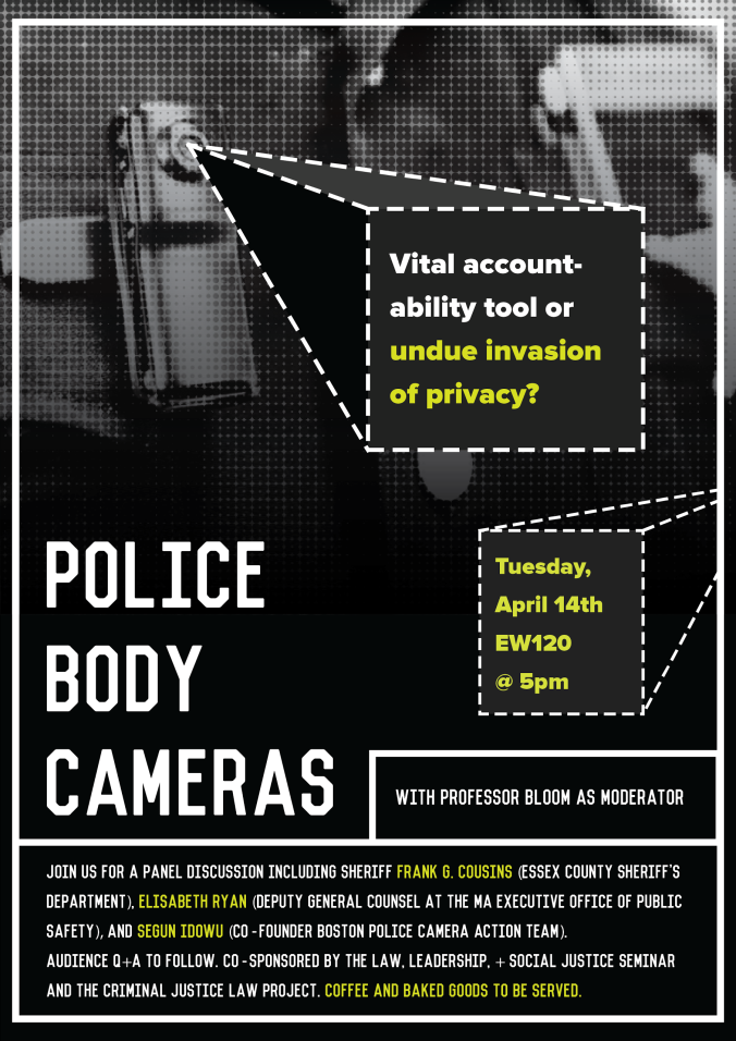 Upcoming @ BCLS: Police Body Cameras Panel on April 14th
