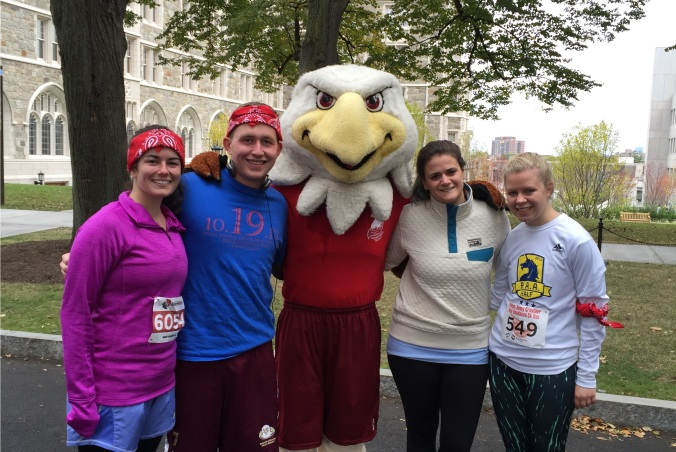 2Ls (from left) Maria Colella, Ashley Gambone, and Margaret Capp ran the Red Bandanna Run with me on October 24th.