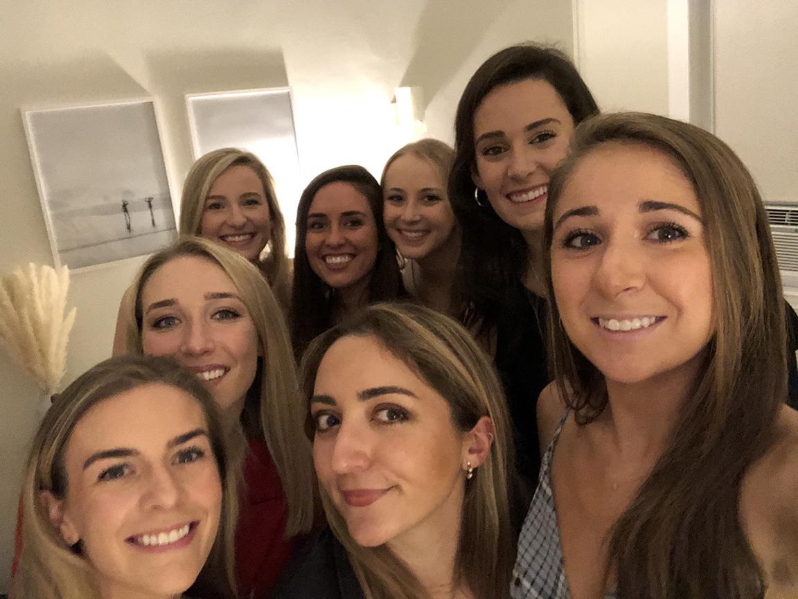Courtney Ruggeri with friends