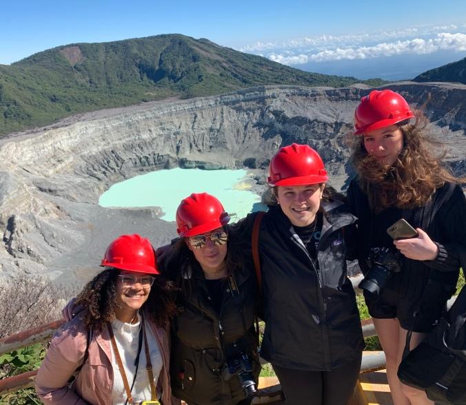 Students at Poás Volcano